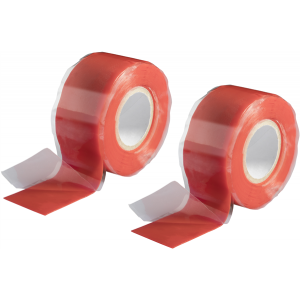 2x Silikonband Isolierband Isoband Abdichtband selbstverschweißend rot 3m x 25mm
