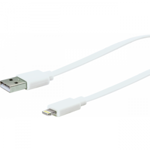 Schwaiger 2m Apple Lightning Sync & Ladekabel (USB A-Stecker zu Apple Lightning Stecker)